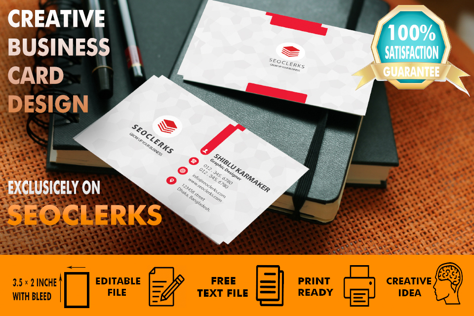 I will make professional business card within 24 hours