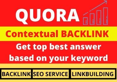 Promote your website backlink with 10 HQ Quora answer
