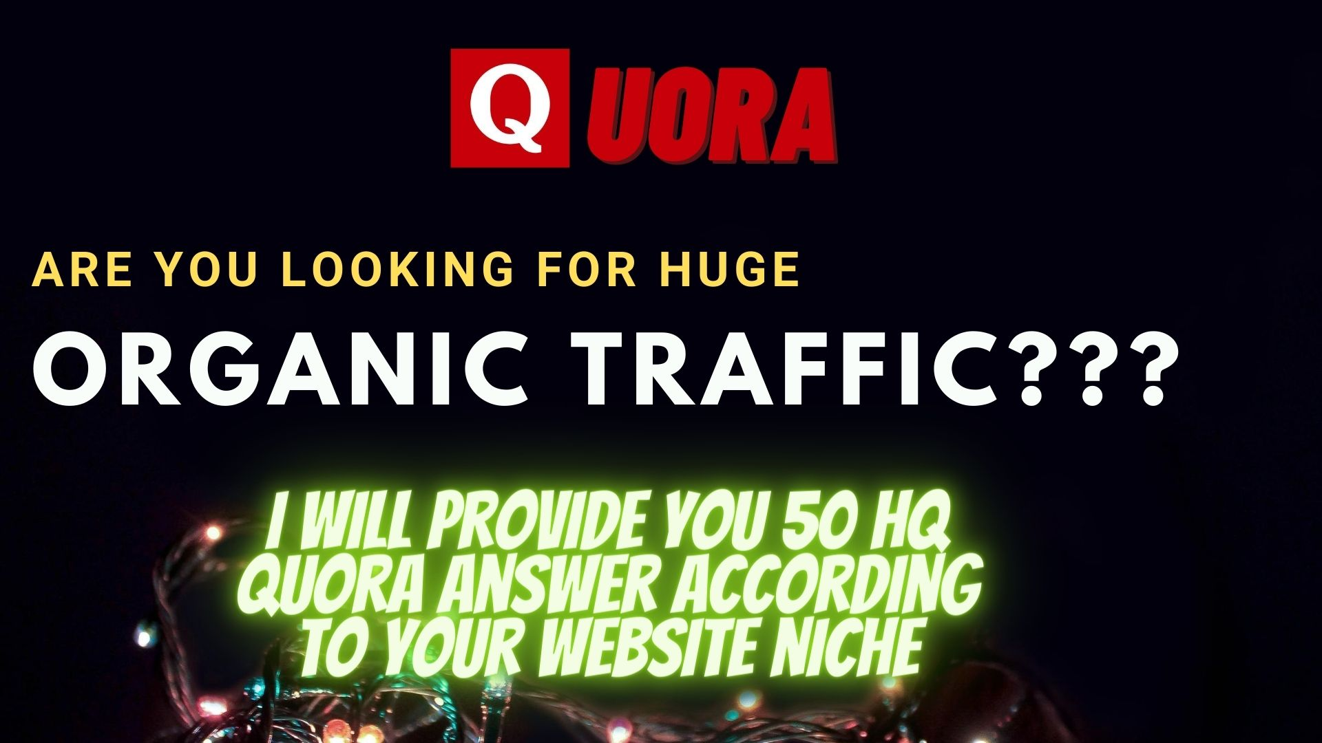 50 HQ Quora answers with your backlink and url