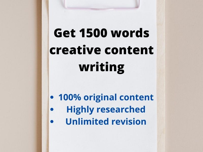Get 1500 words creative content writing
