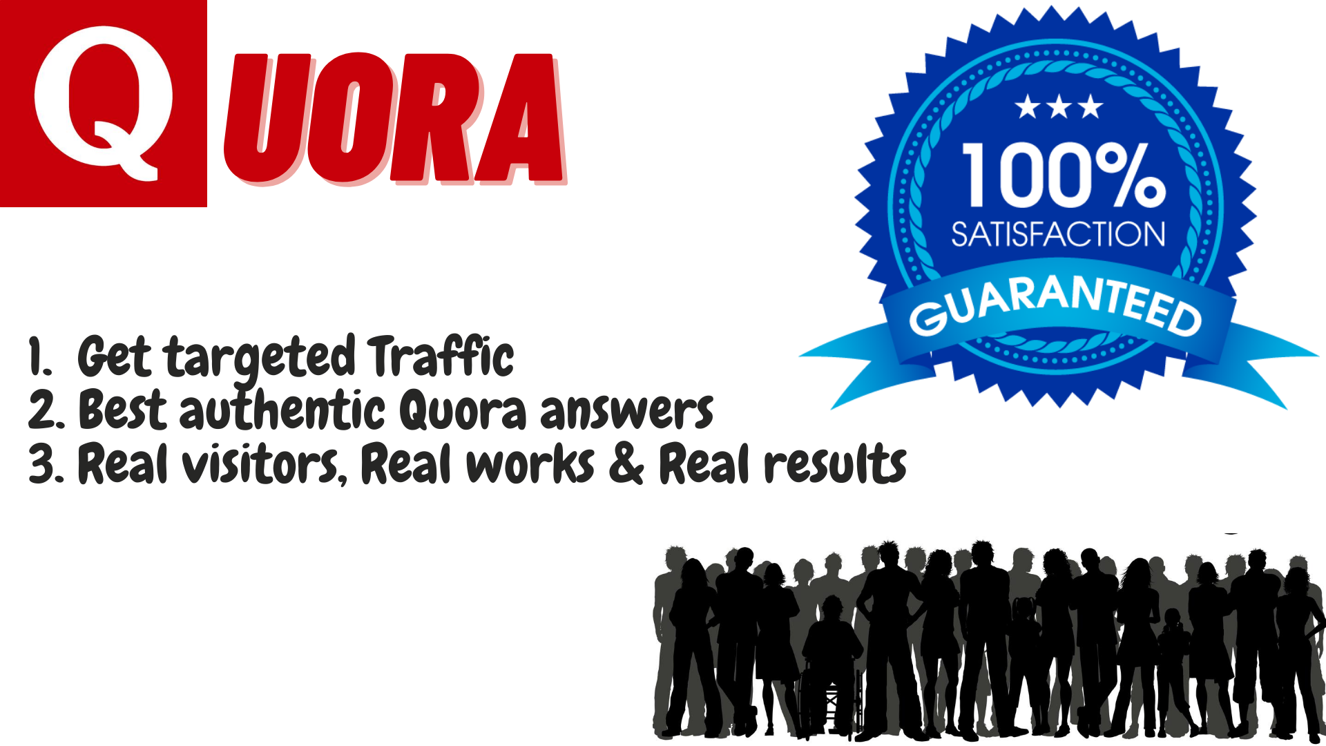 Need traffic for your website?? Get 20 Quora authentic answers for getting huge traffic