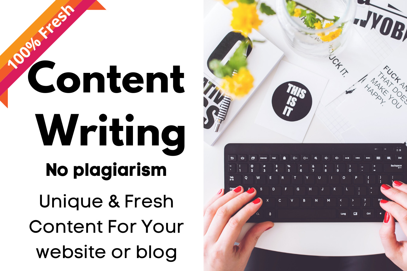 create high quality content writing for website, blog only