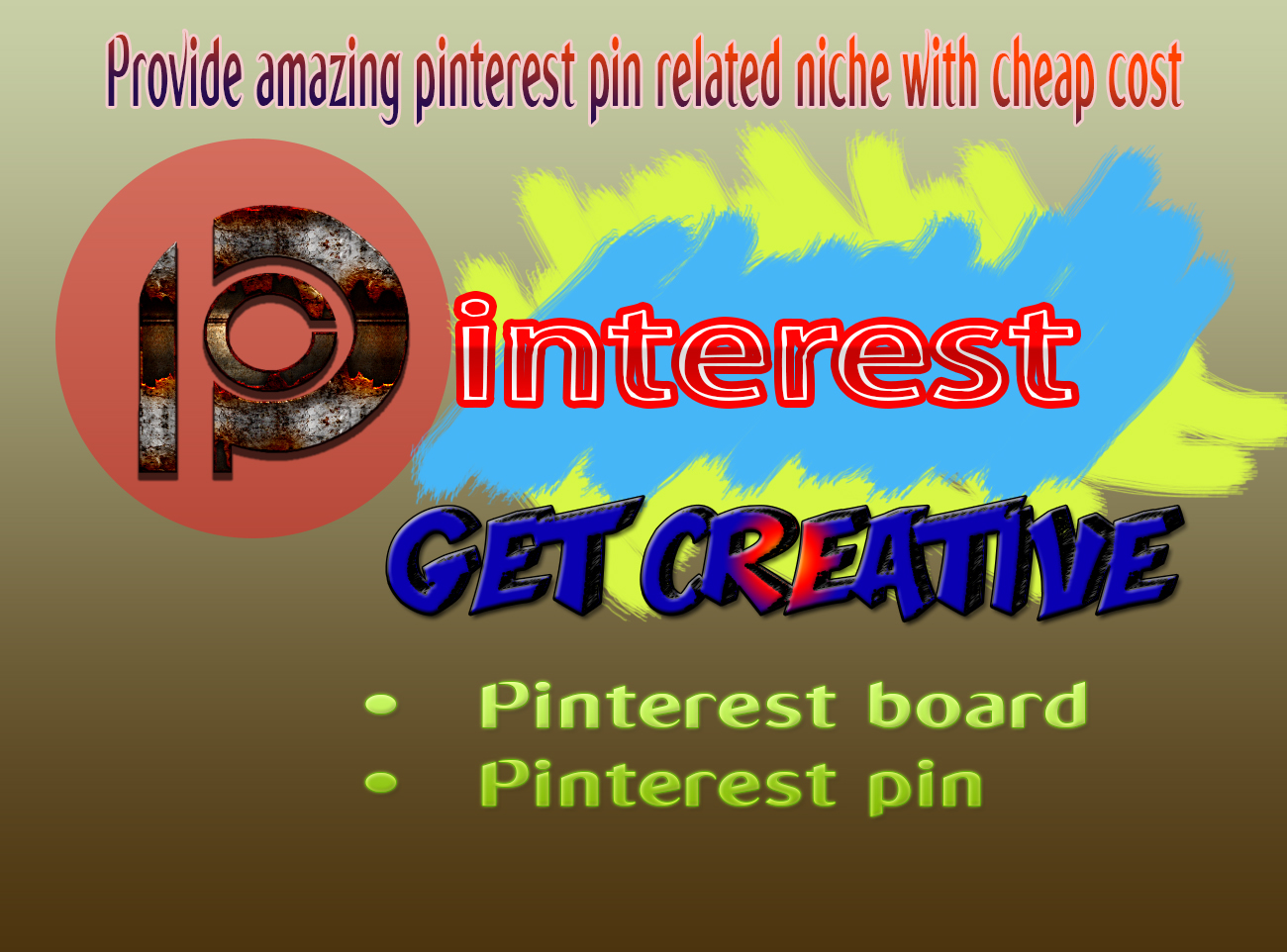 Provide High Quality Pinterest 1 board and 5 pin with targeted traffic
