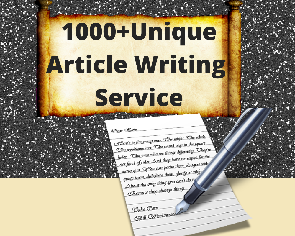 1000 words unique Article Writing / Content Writing for your website