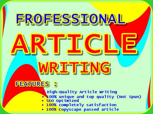 Do 1000 Words SEO Unique Article writing,  Blog writing,  Content writing in any topic.