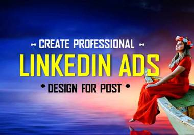 I will create professional linkedin banner design for post