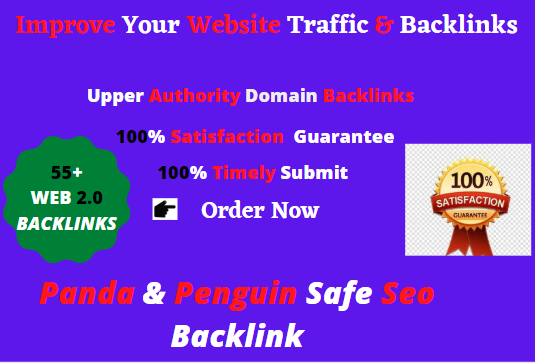 Create 55+manual web 2.0 backlinks for unique sites