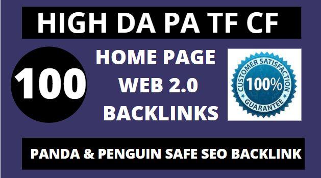 Best create 100+manual web 2.0 backlinks for unique sites.