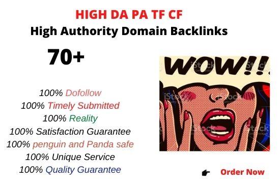 Top10 High PA DA TF CF 70+PBN Backlinks web2.0 - Dofollow High Quality Links