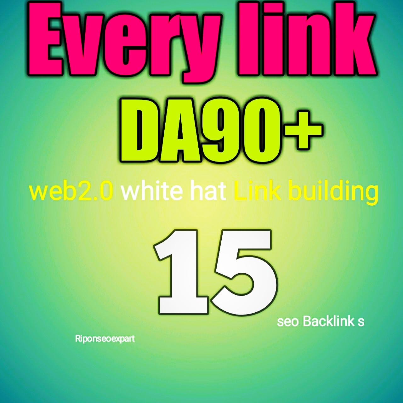 Indexable Web2.0 DA90+ Do follow 15 backlinks white hat link building service for top ranking