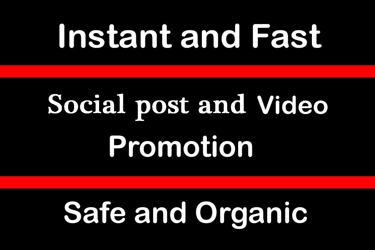 Instant Social Video views Promotion and Marketing in 1 hour