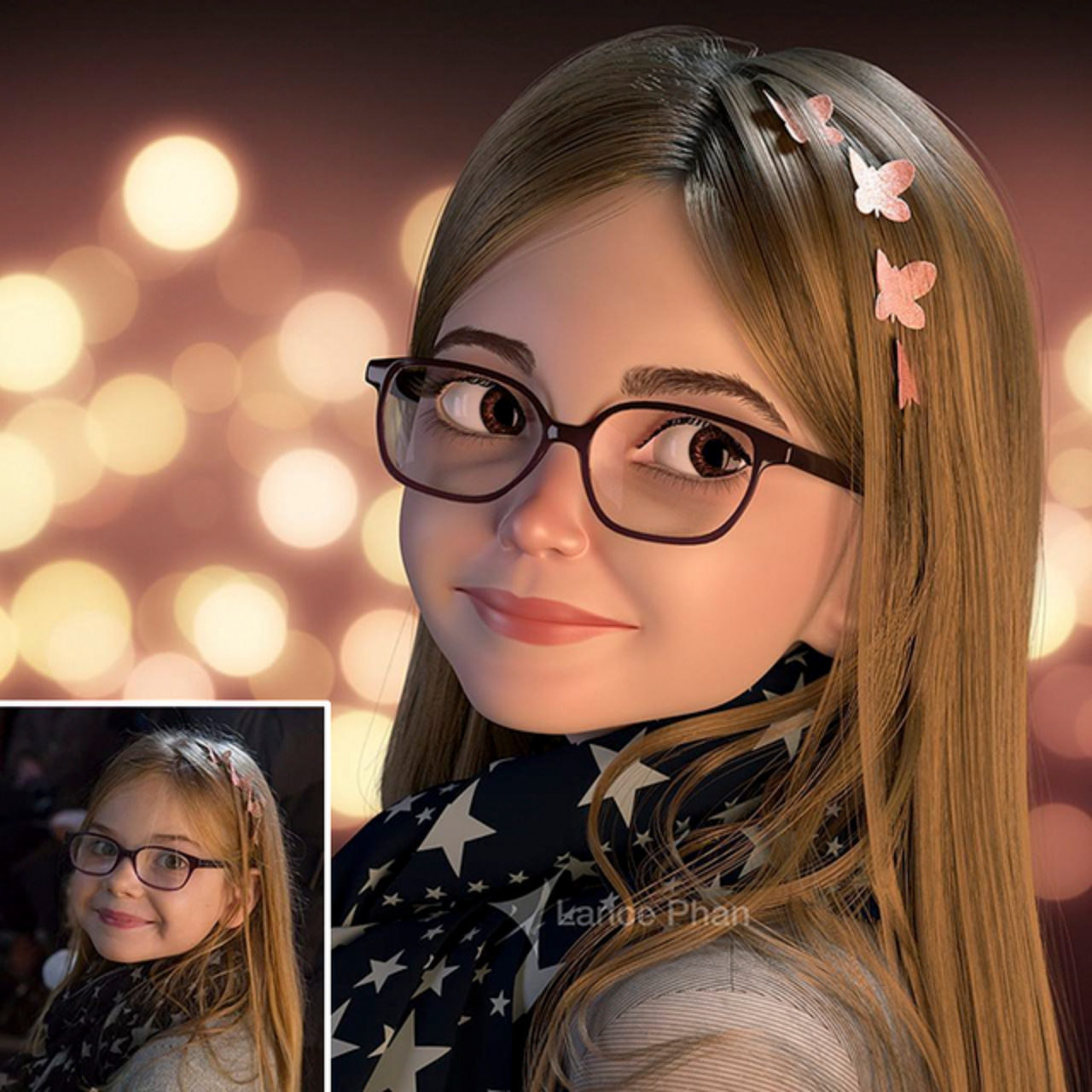 Create cartoon or caricature 3d from your photo