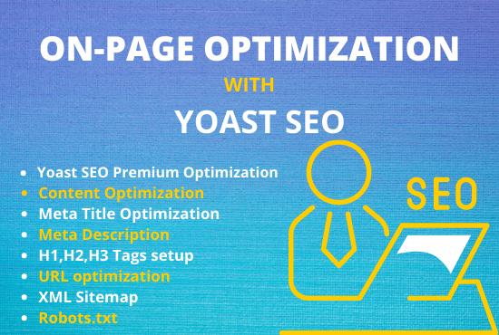 I will do wordpress onpage SEO by using yoast premium to rank fast