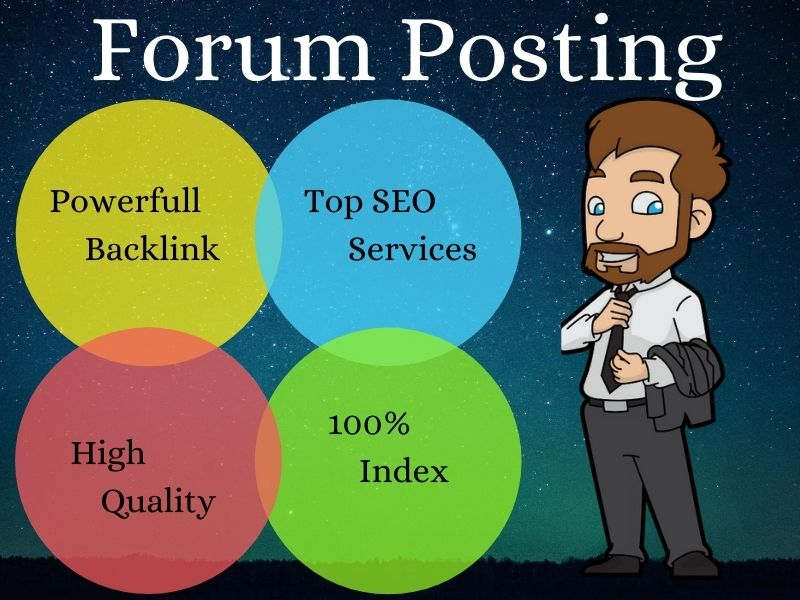 I Will Provide Manually 20 Forum Posting SEO Backlinks Link building