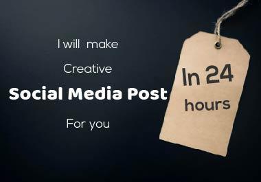 I will make unique Social Post Design in 24 hours
