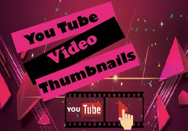 I will create unique You Tube video thumbnails in 24 hours