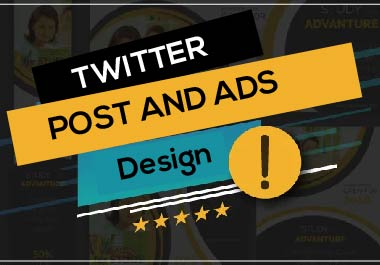 I will make unique Twitter post and ads design in 24 hours for you