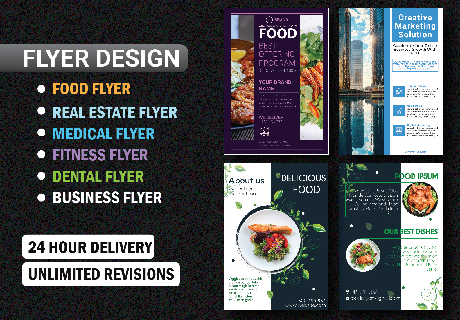 I will create a Professional Flyer