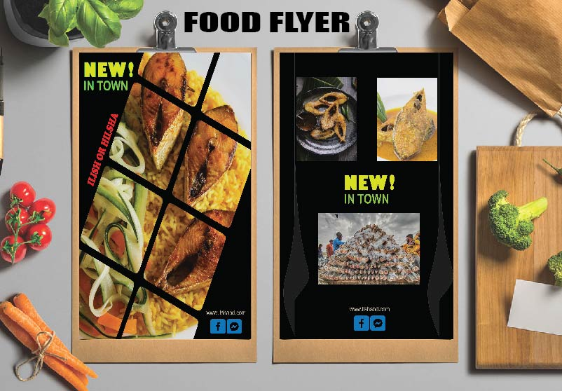 I will create restaurant menu, food flyer or brochure