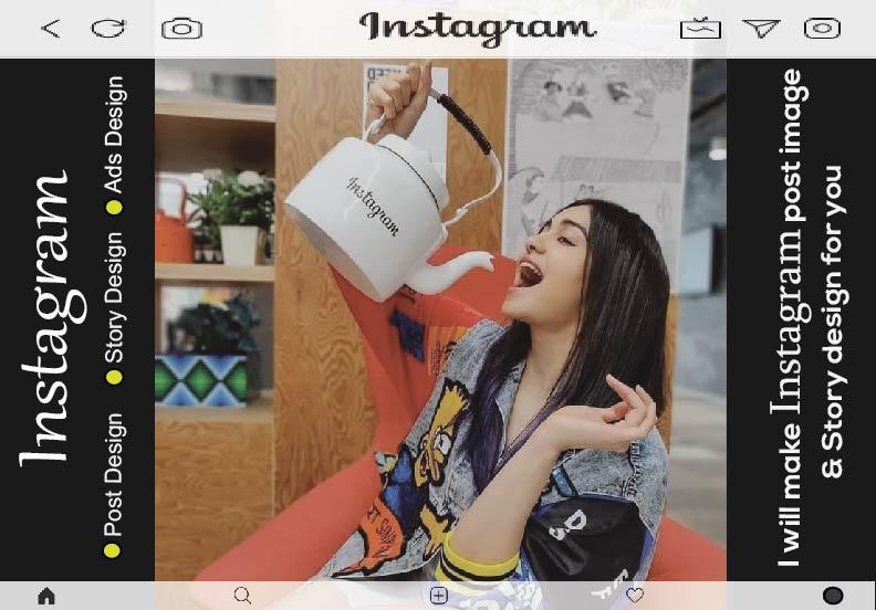 I will create Instagram post & story design