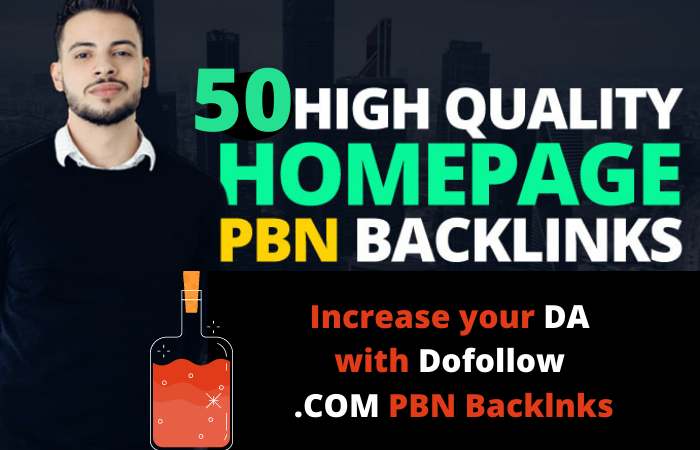 I will build 50 Do follow PBN homepage high quality backlinks