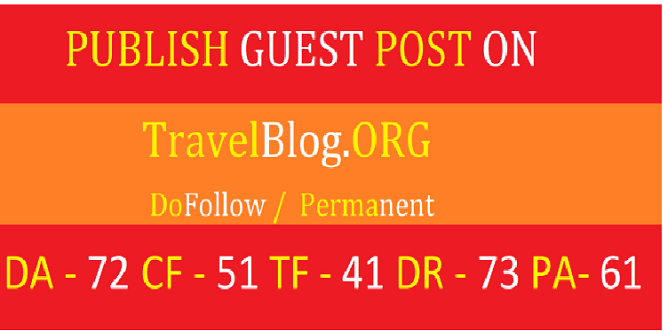 Publish Guest Post Travelblog. org DA 75