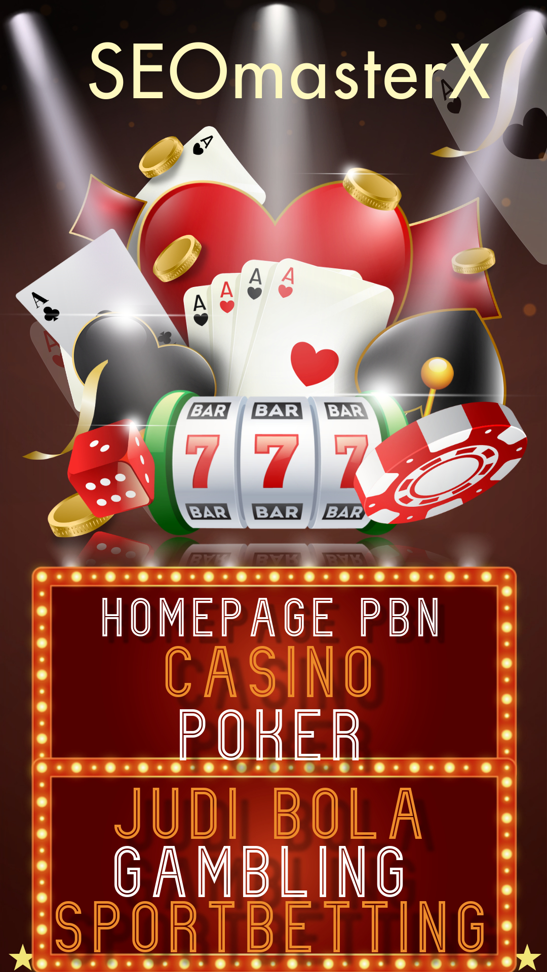 100 Homepage PBN Post Gambling Poker,  Betting,  Judi Bola,  Casino - SEO Package 1st