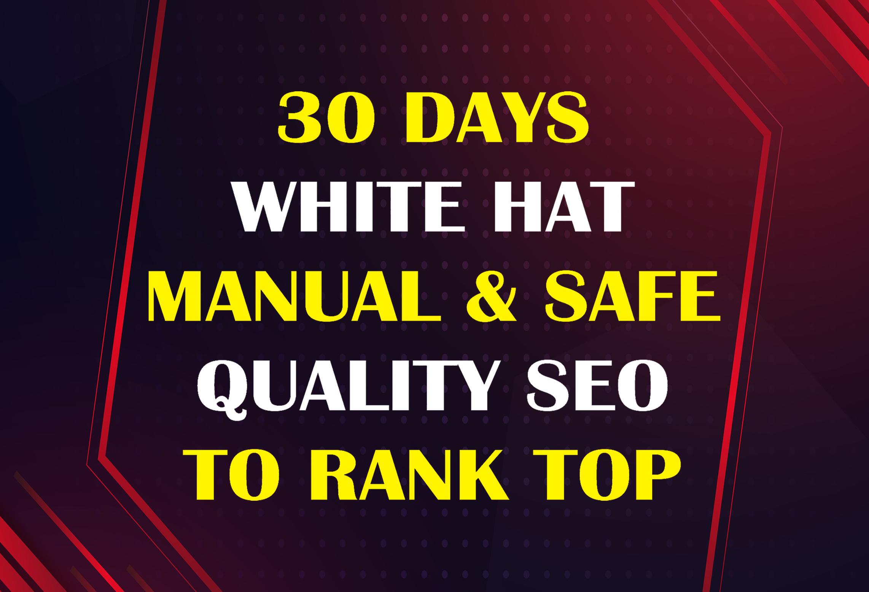 30 Days Manual POWERFUL White Hat SEO Backlinks To Rank Website