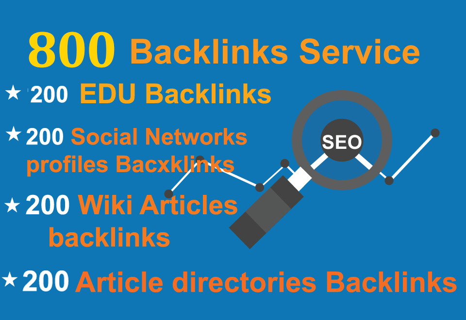 Unique 200 EDU,  200 Social Networks profiles,  200 Wiki articles,  200 Article directories Backlink