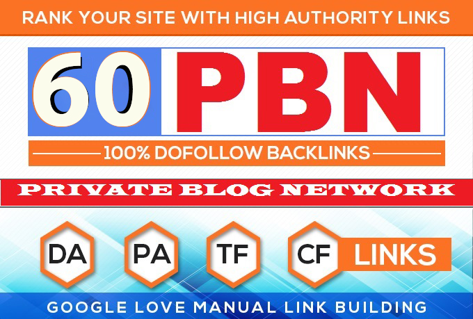 Build 60 HomePage PBN Backlinks All Dofollow High Quality Backlinks, top google ranking