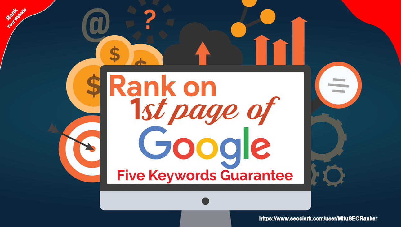 Guaranteed 5 Keywords On Google 1st Page Or Refund Money Your-Manually Done Backlink Package-Update