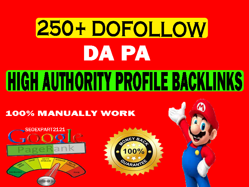 Rank on Google by High Authority manually created genuine and permanent 250 do follow Backlinks