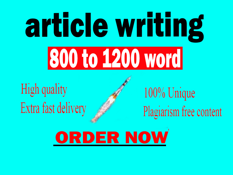 I will manually write professional SEO Optimised 800-1200 words a unique stellar article or rewrite
