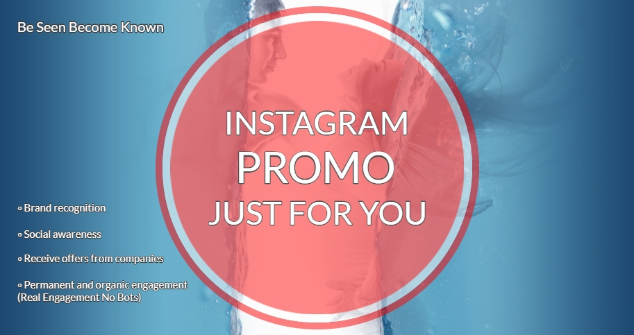 My Instagram Promotion at any day and any time just for you