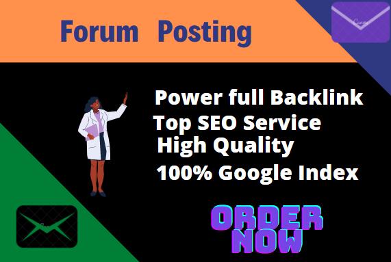 I will Do 30+ High Quality Forum Posting Backlinks