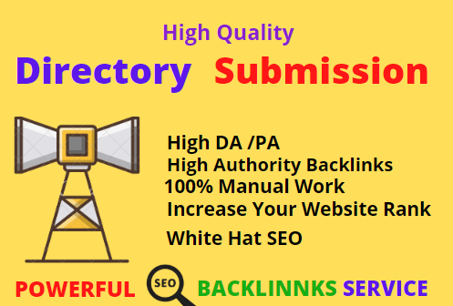 I will do 150 High-quality directory submission backlinks