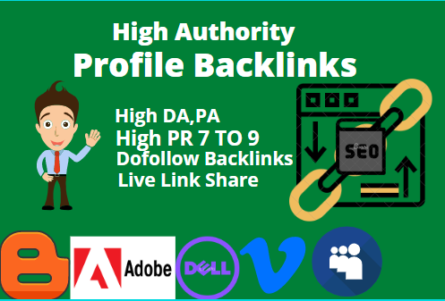 I Will Create 150+ Do Follow High PR5 or DA 60+HQ Dominating Profile Backlink