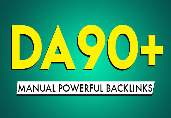 I will create powerful manual SEO backlink for link building on da 90 sites