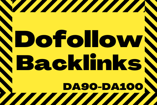 I will give you verified 20 DA90-DA100 High PR Dofollow Backlinks to Rank Higher