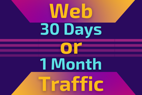 I will give niche organic keyword targeted traffic for 30 days