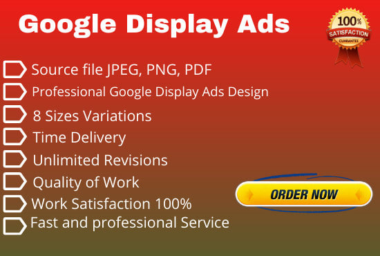 I Will Create Outstanding Google Display ADS in Couple of Hours