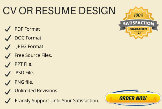 I Will Create a Professional CV and Resume in Couple of Hours