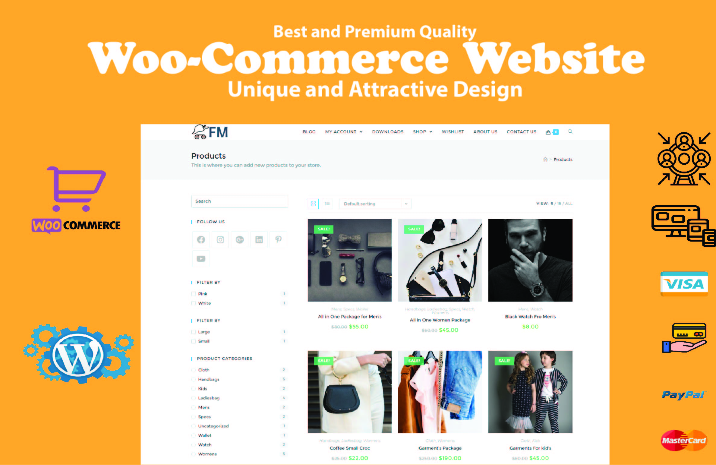 I will Create woocommerce Online Store for you (E-Commerce)