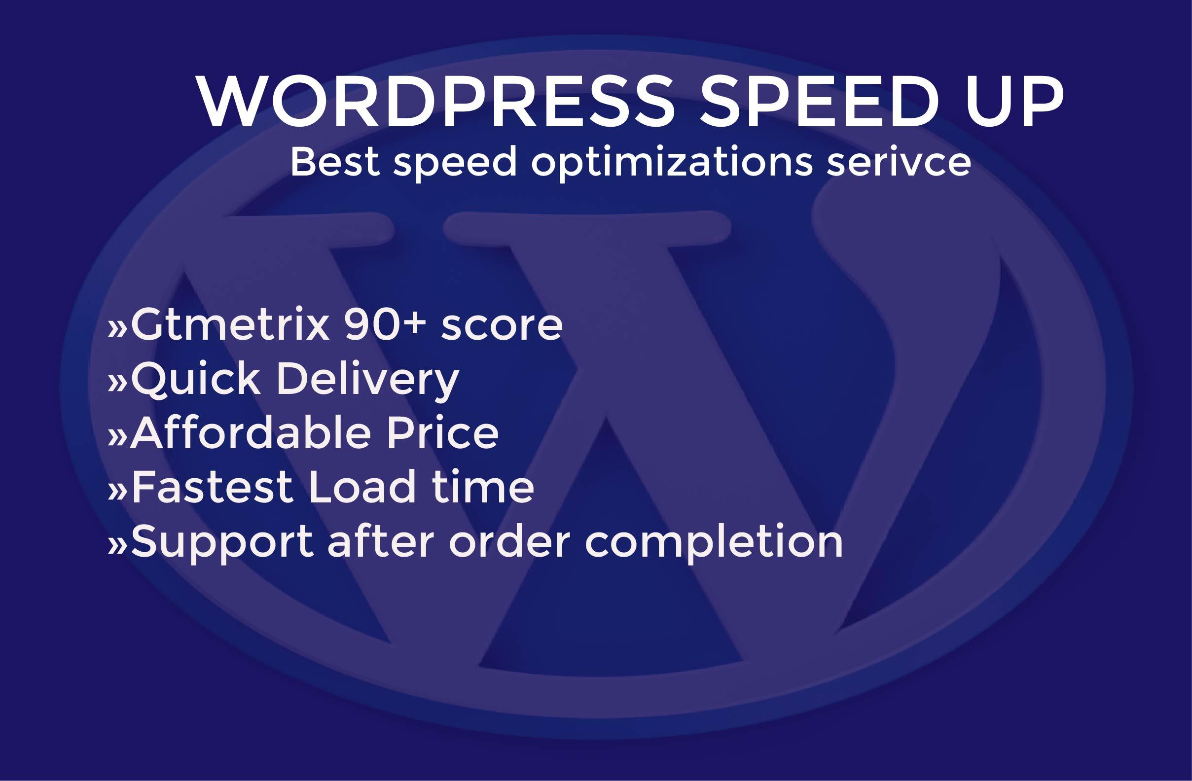 I will speed up wordpress website and resize image optimization