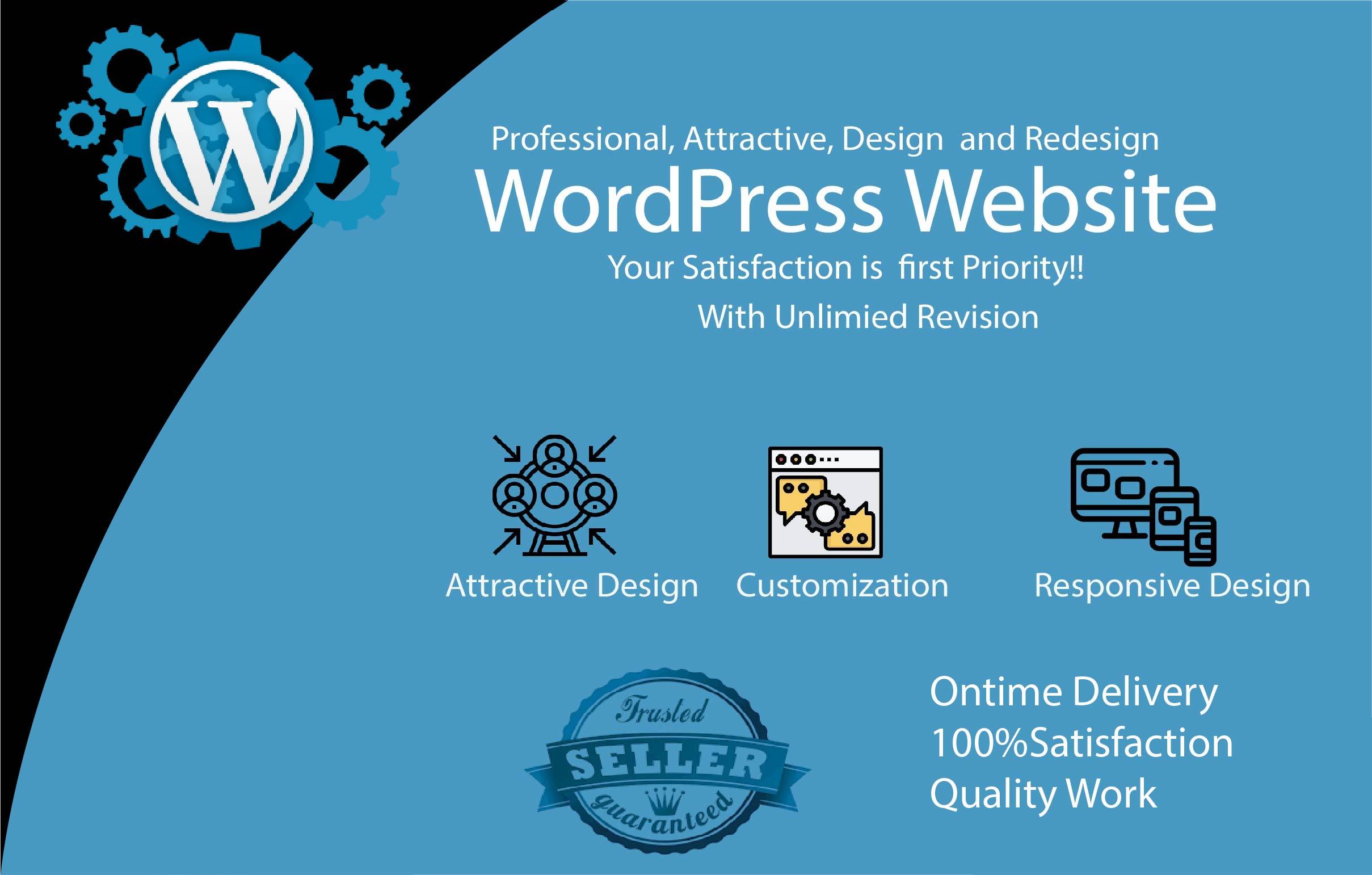 I will do Professional Blog WordPress,  Business Website,  Responsive website