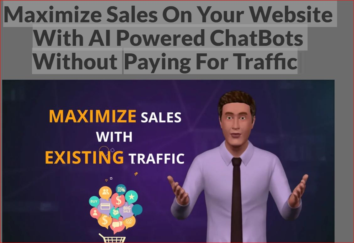 Maximize Sales On Your Website With AI Powered ChatBots Without Paying For Ads