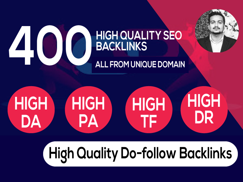 400+PBN Backlink in your website hompage with HIGH DA/PA/TF/CF with unique websites