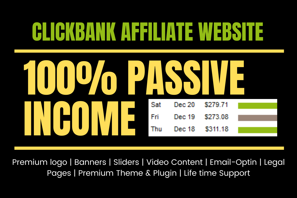 create clickbank affiliate site for passive income