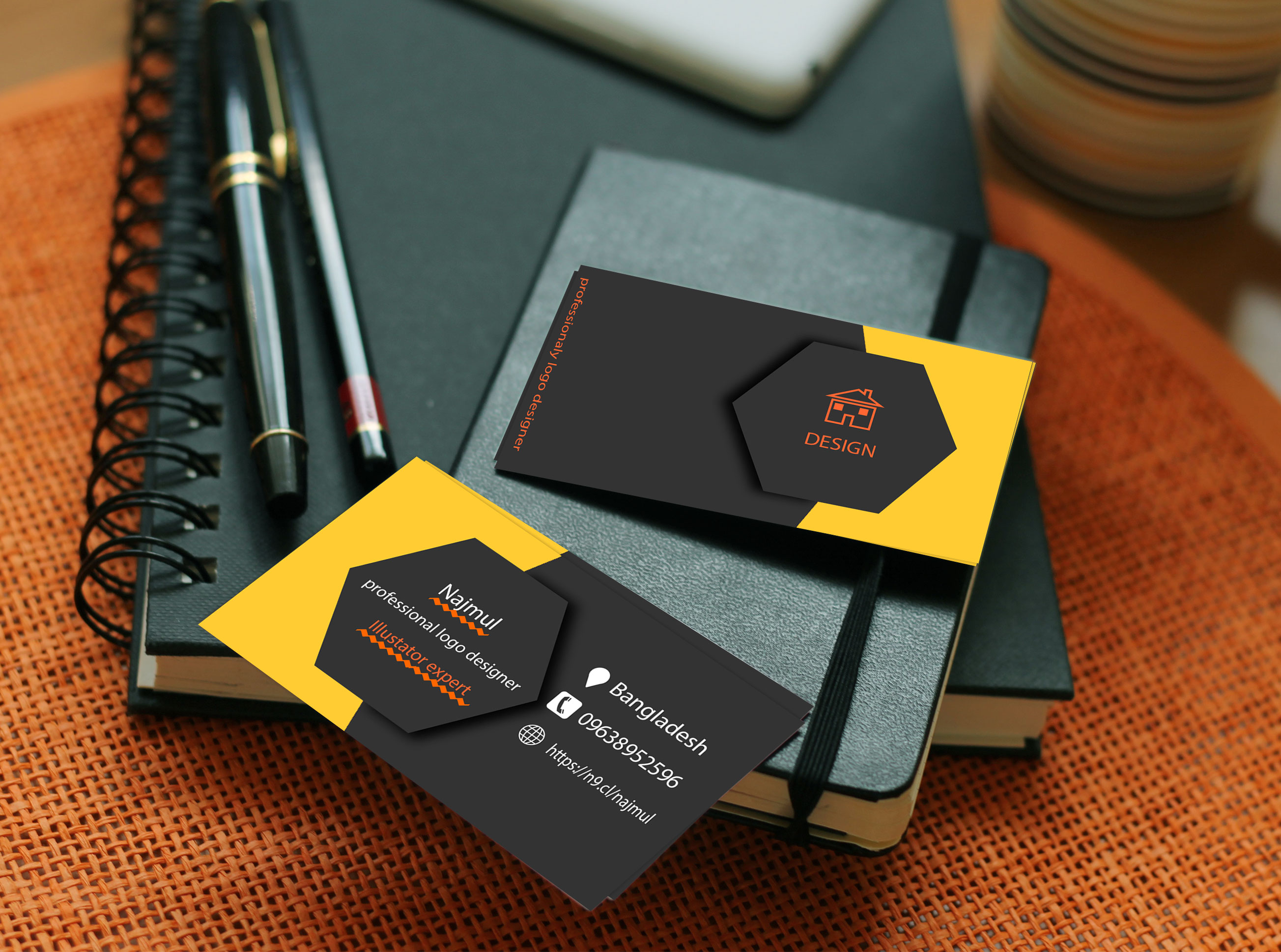 I will design logo,  business card and stationery