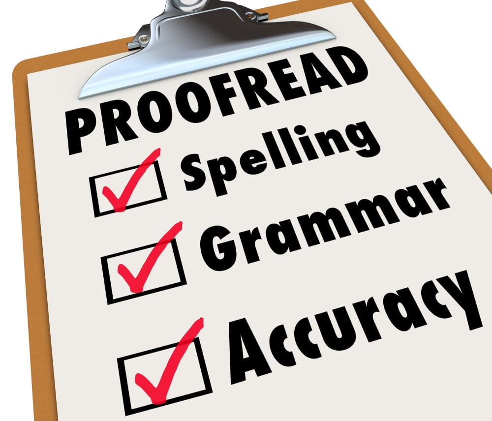 i will proofread and edit 1000 words of your Articles and blogs in English